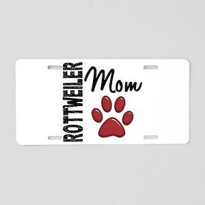 Rottweiler Mom 2 Aluminum License Plate
