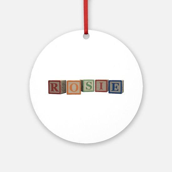 Rosie Alphabet Blocks Ornament (Round)