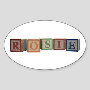 Rosie Alphabet Blocks Sticker (Oval)
