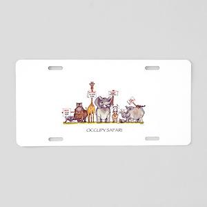 'Occupy Safari' Aluminum License Plate