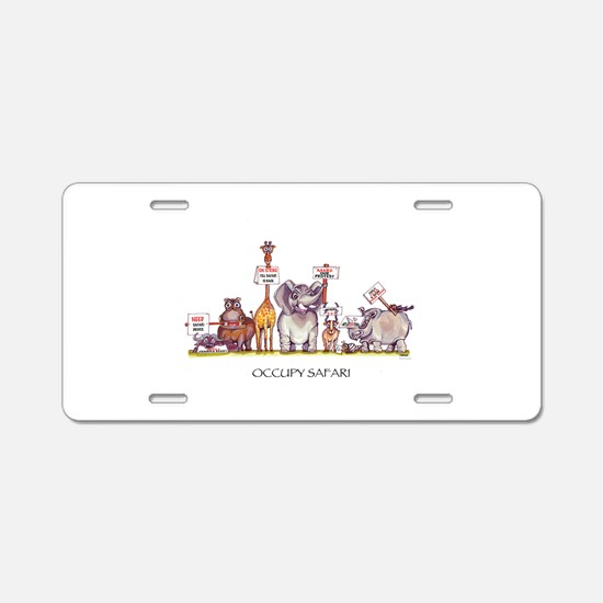 'Occupy Safari' Aluminum License Plate