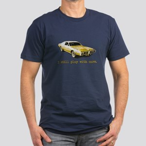 I still play with cars Men's Fitted T-Shirt (dark)