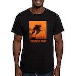 Industrial Progress Trap Men's Fitted T-Shirt (dar