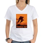 Industrial Progress Trap Women's V-Neck T-Shirt