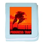 Industrial Progress Trap baby blanket