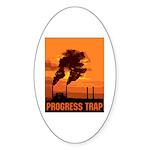Industrial Progress Trap Sticker (Oval 10 pk)