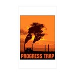 Industrial Progress Trap Sticker (Rectangle 10 pk)