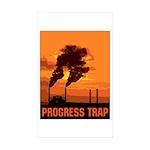 Industrial Progress Trap Sticker (Rectangle 50 pk)