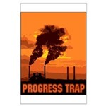 Industrial Progress Trap Large Poster