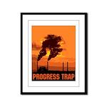 Industrial Progress Trap Framed Panel Print