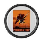Industrial Progress Trap Large Wall Clock