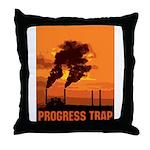 Industrial Progress Trap Throw Pillow