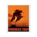 Industrial Progress Trap Throw Blanket