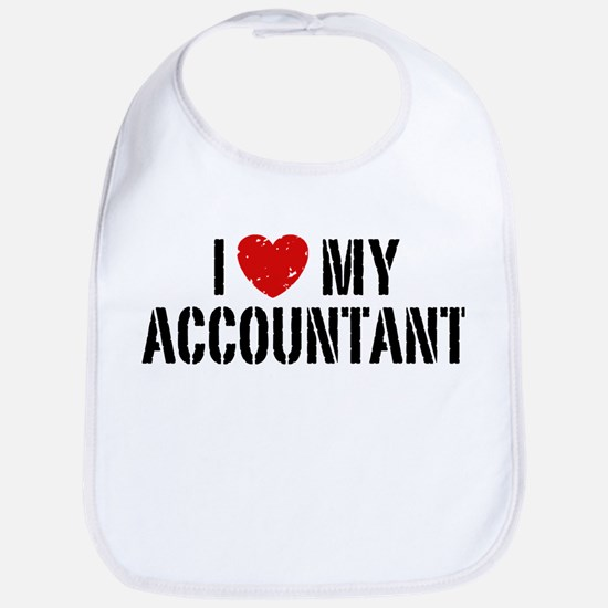 I Love My Accountant Bib