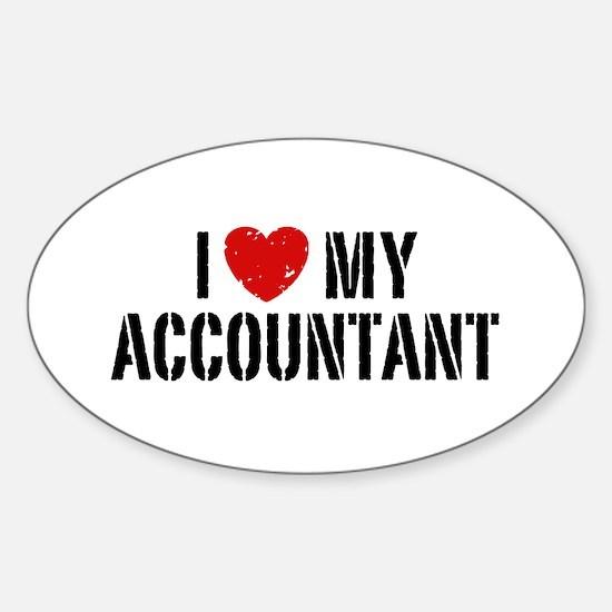 I Love My Accountant Sticker (Oval)