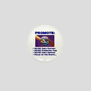 Promote 50/50 World Blue Mini Button