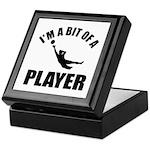I'm a bit of a player goal keeper Keepsake Box