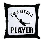 I'm a bit of a player goal keeper Throw Pillow