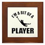 I'm a bit of a player goal keeper Framed Tile