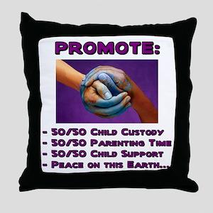 Promote 50/50 World Purple Throw Pillow