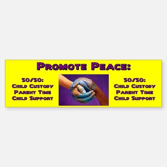Promote 50/50 World Purple Bumper Bumper Bumper Sticker