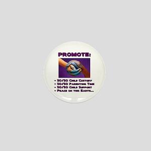 Promote 50/50 World Purple Mini Button
