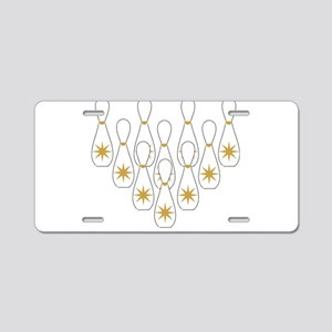 Ten Pin Bowling Design Aluminum License Plate