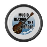 Beyond the border Large Wall Clock