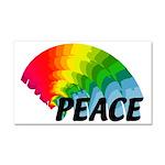 Rainbow Peace Car Magnet 20 x 12