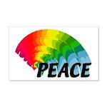 Rainbow Peace 20x12 Wall Decal