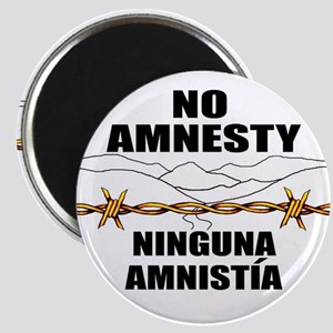 "No Amnesty - Ninguna Amnistia 2.25"" Magnet (10 pac"