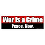 War is a crime bumper sticker