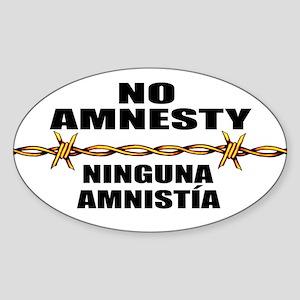 No Amnesty - Ninguna Amnistia Oval Sticker