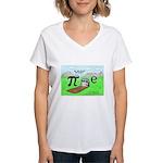QED Gravestone Women's V-Neck T-Shirt