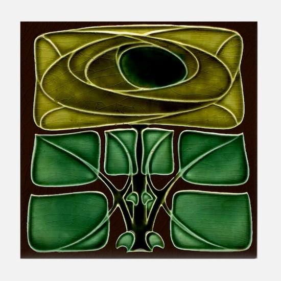 Art Nouveau Mackintosh Rose Tile Coaster