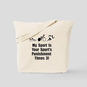 Triathlon Punishment Tote Bag