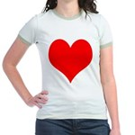 Red Heart Jr. Ringer T-Shirt