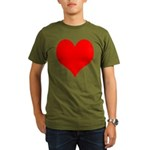 Red Heart Organic Men's T-Shirt (dark)