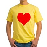 Red Heart Yellow T-Shirt