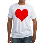 Red Heart Fitted T-Shirt