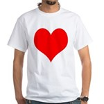 Red Heart White T-Shirt