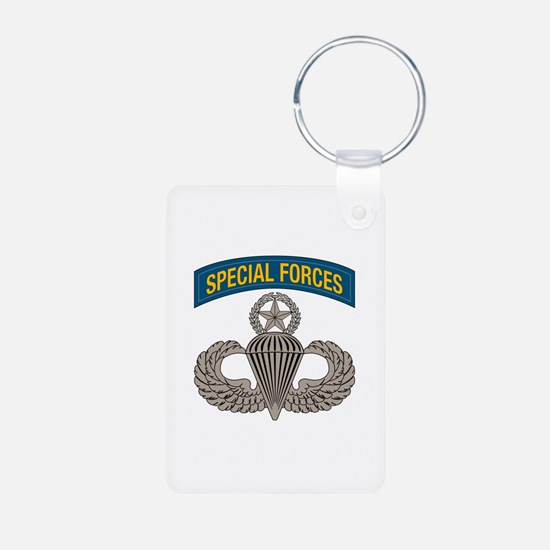 Airborne SF w Master Wings Aluminum Photo Keychain