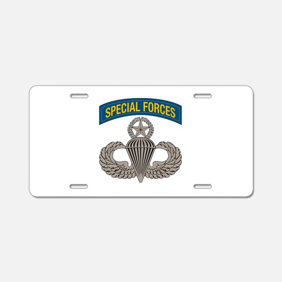 Airborne SF w Master Wings Aluminum License Plate