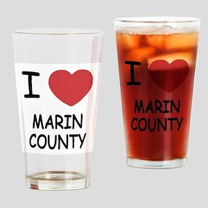 I heart marin county Drinking Glass