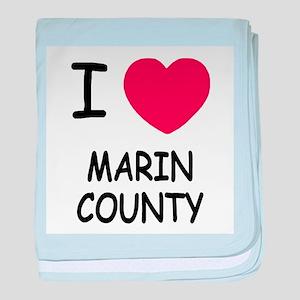 I heart marin county baby blanket