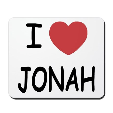 I heart jonah Mousepad