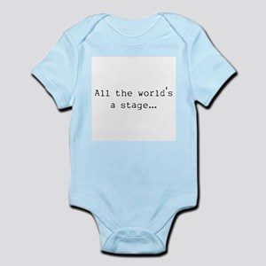 the world's a stage Infant Bodysuit