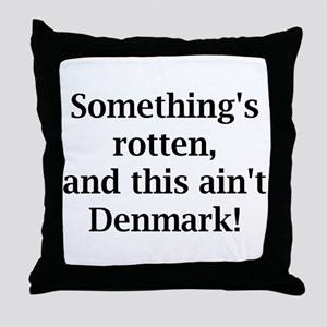something's rotten Throw Pillow