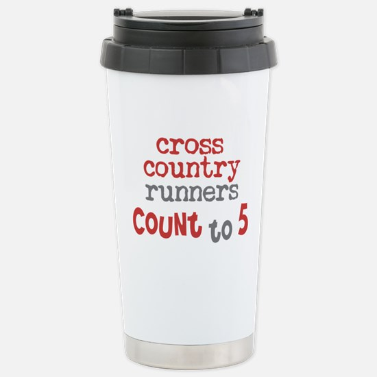 Cross Country Counts 5 Stainless Steel Travel Mug