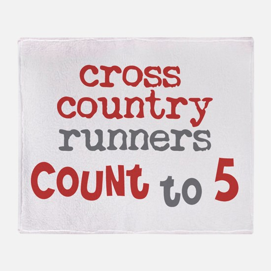 Cross Country Counts 5 Throw Blanket